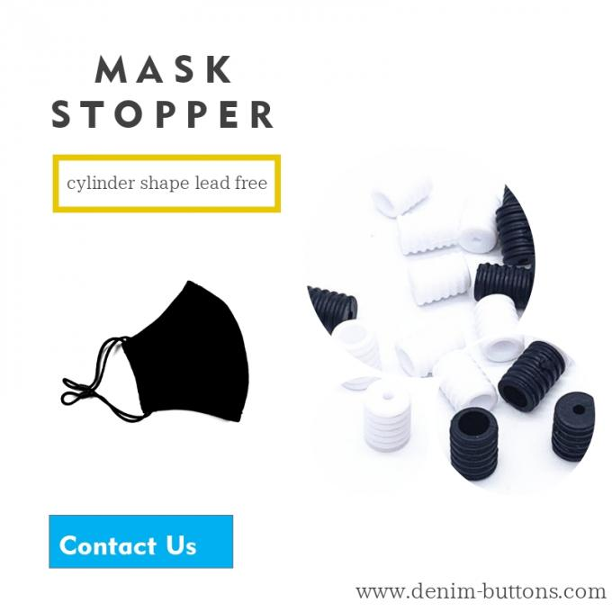 mask stoppers black cylinder shape lead free